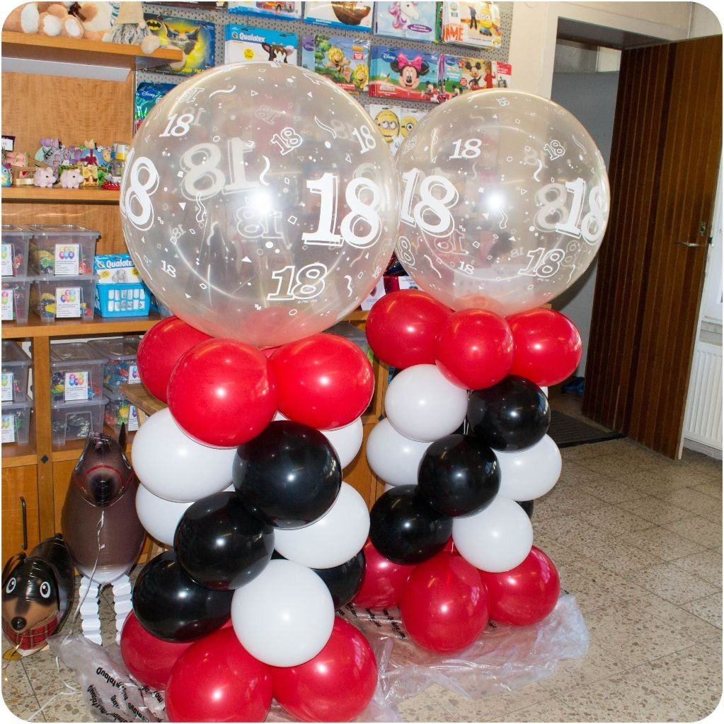 ballon deko zum 18 geburtstag lufties ballons. Black Bedroom Furniture Sets. Home Design Ideas