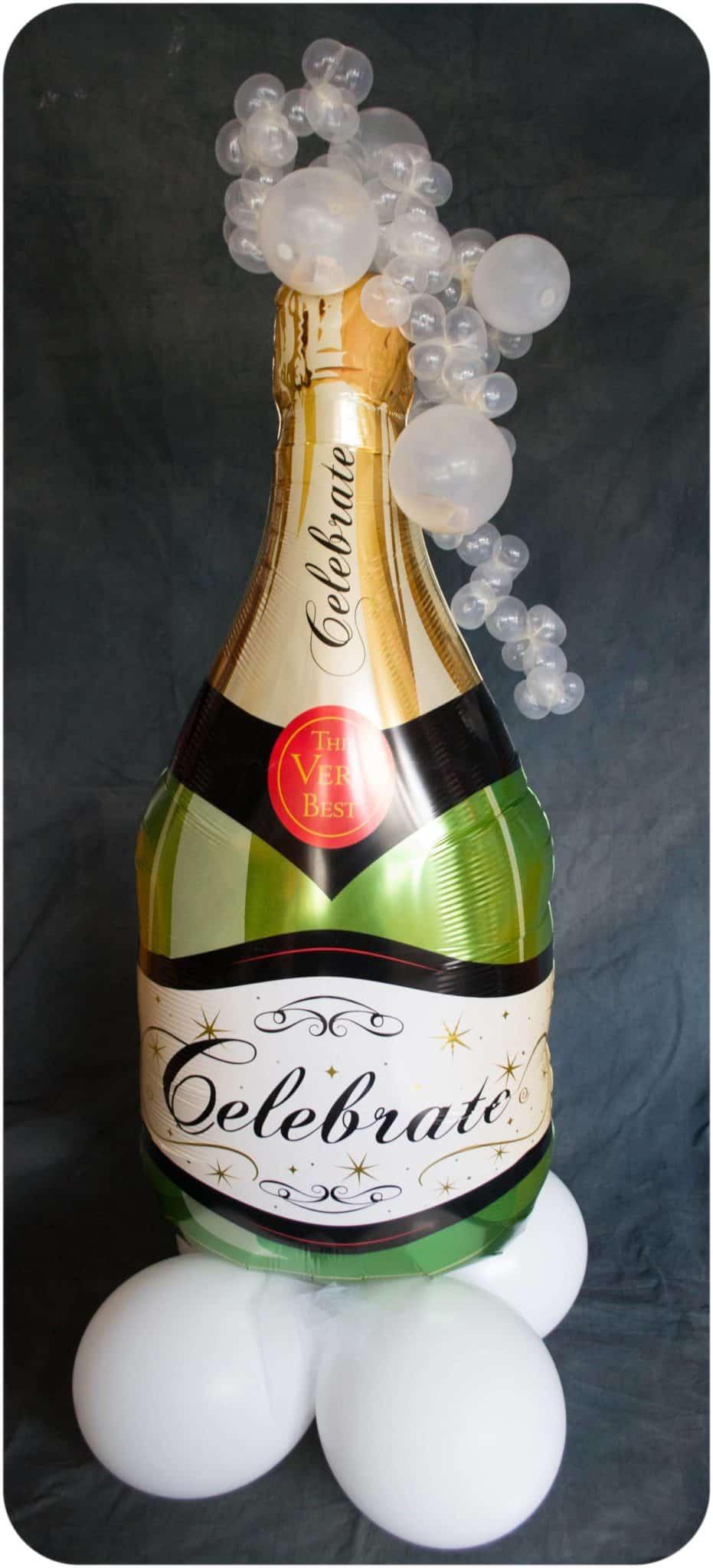 XXL Folienballon Champagner 35 x 91 cm Riesenballon Sektflasche Dekoballon