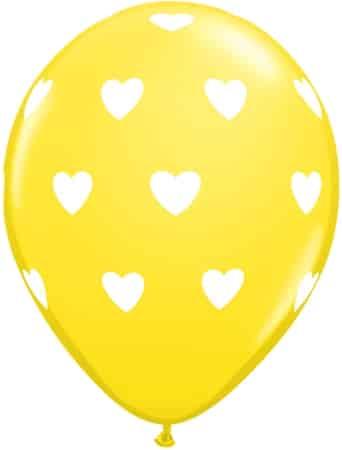 Luftballon Herzen gelb