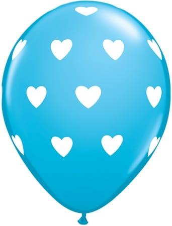 Luftballon Herzen hellblau