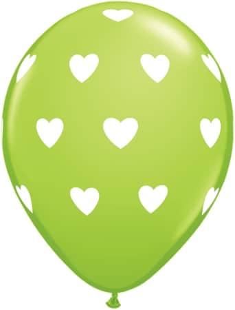 Luftballon Herzen hellgrün