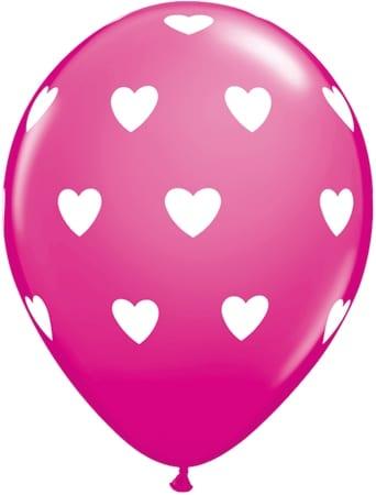 Luftballon Herzen magenta