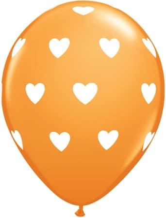 Luftballon Herzen orange