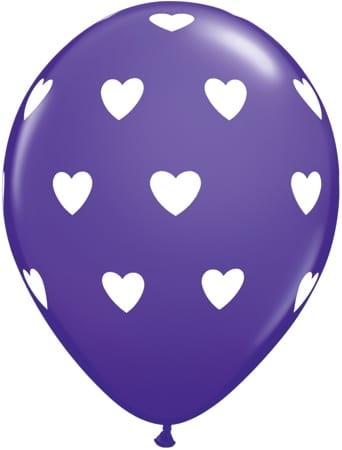 Luftballon Herzen violett