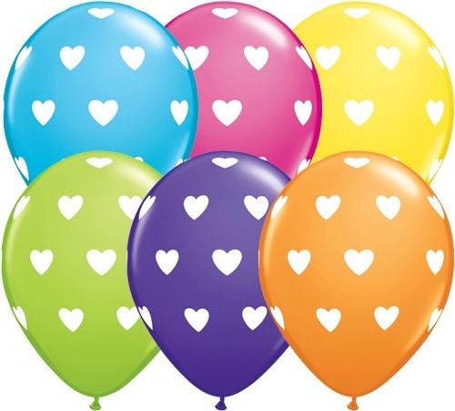 helium luftballon herzen 28 cm. Black Bedroom Furniture Sets. Home Design Ideas