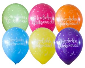 Luftballon Herzlichen Glückwunsch