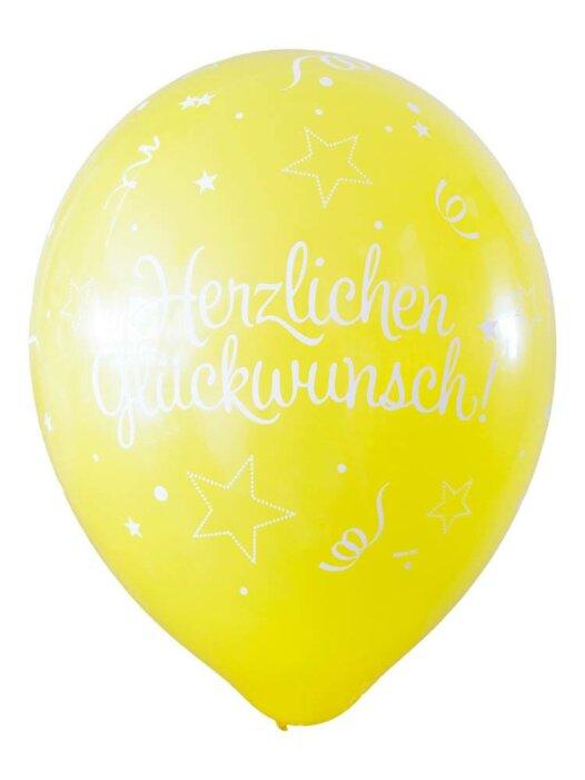 Luftballon Herzlichen Glückwunsch gelb