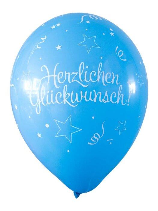 Luftballon Herzlichen Glückwunsch hellblau