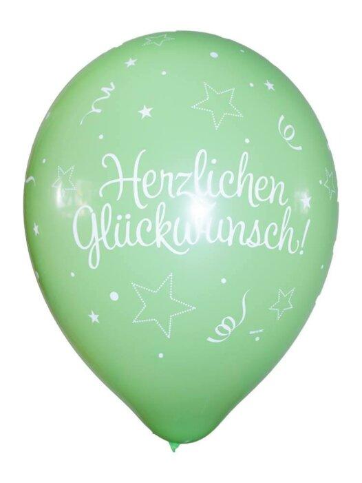 Luftballon Herzlichen Glückwunsch hellgrün