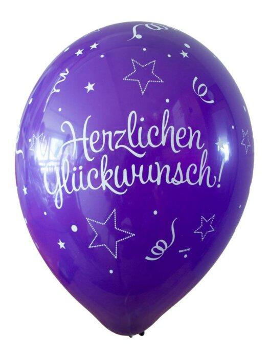 Luftballon Herzlichen Glückwunsch violett