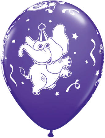 Luftballon Party-Tiere Elefant violett
