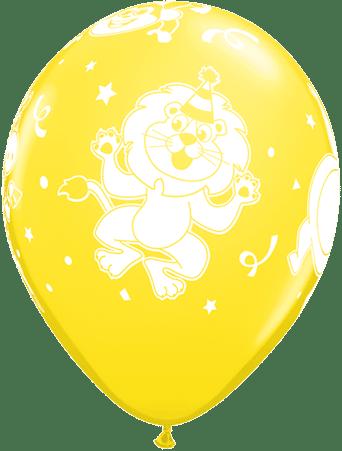 Luftballon Party-Tiere Löwe gelb