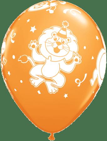 Luftballon Party-Tiere Löwe orange