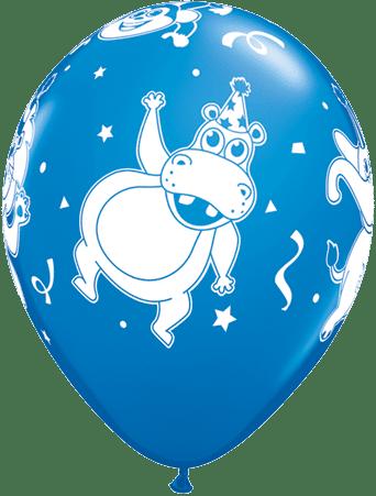 Luftballon Party-Tiere Nilpferd blau