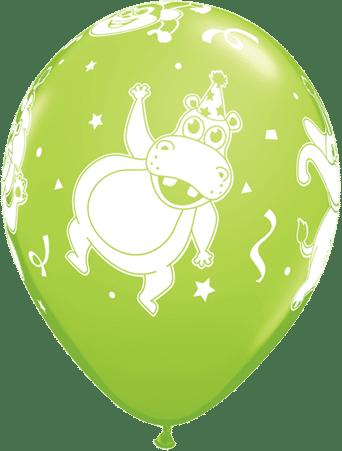 Luftballon Party-Tiere Nilpferd hellgrün