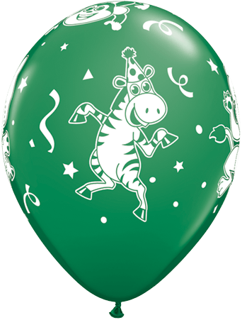 Luftballon Party-Tiere Zebra dunkelgrün