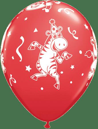 Luftballon Party-Tiere Zebra rot