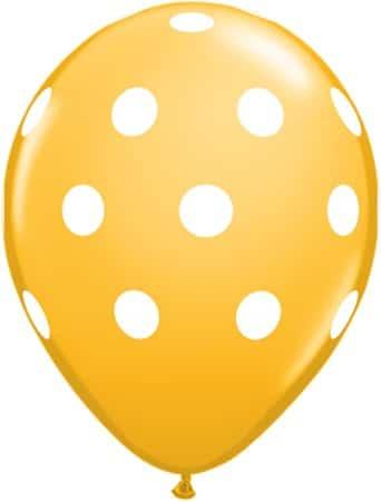 Luftballon Punkte hellorange