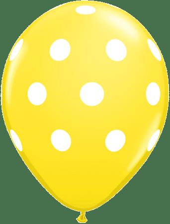 Luftballon Punkte gelb