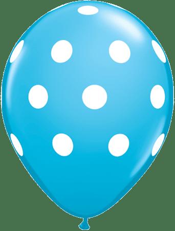 Luftballon Punkte hellblau