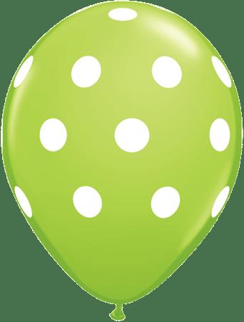 Luftballon Punkte hellgrün