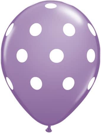 Luftballon Punkte lila