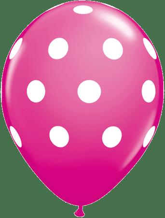 Luftballon Punkte magenta