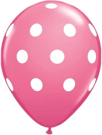 Luftballon Punkte rosa