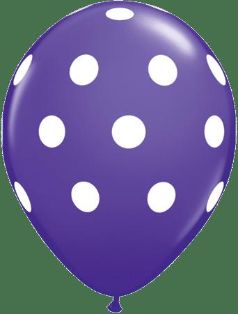 Luftballon Punkte violett