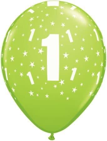 Luftballon Zahl 1 hellgrün