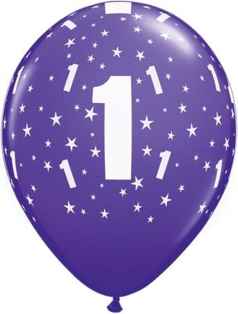 Luftballon Zahl 1 violett