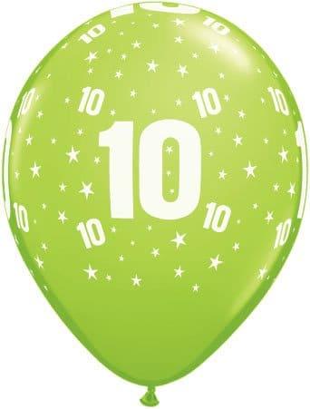 Luftballon Zahl 10 hellgrün