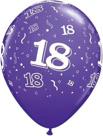Luftballon Zahl 18 violett