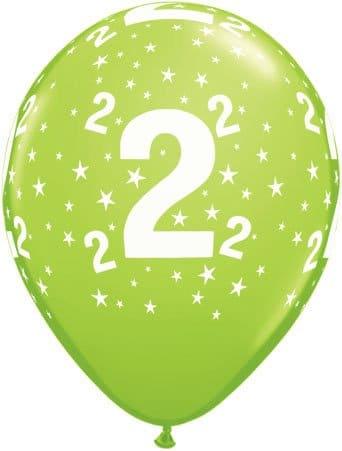 Luftballon Zahl 2 hellgrün