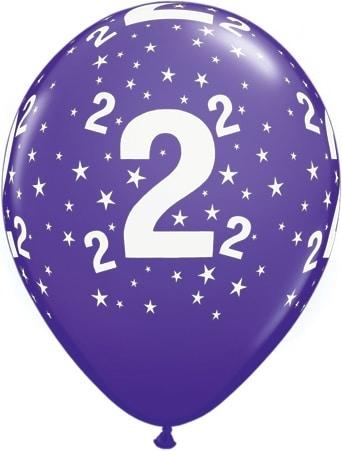 Luftballon Zahl 2 violett