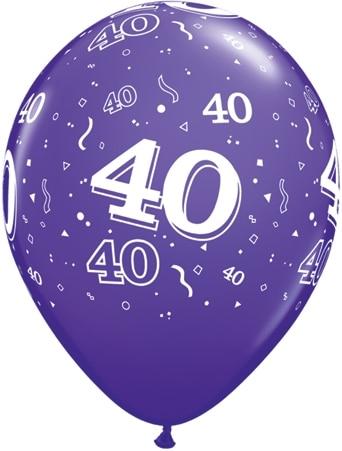 Luftballon Zahl 40 violett