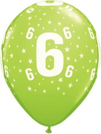 Luftballon Zahl 6 hellgrün