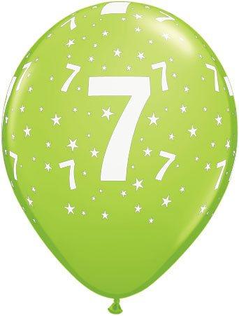 Luftballon Zahl 7 hellgrün