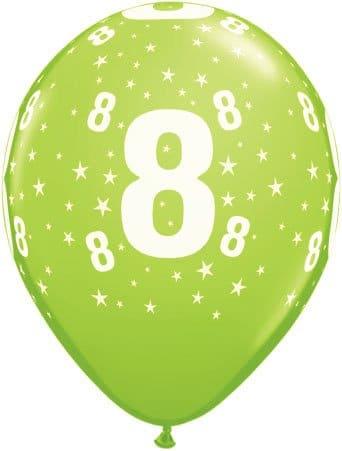 Luftballon Zahl 8 hellgrün