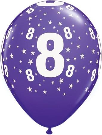 Luftballon Zahl 8 violett