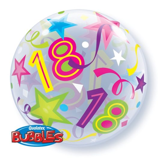 Ballon Zahl 18 Rückseite