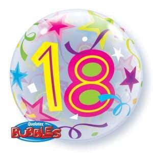 Ballon Zahl 18 Kunststoffballon Bubble