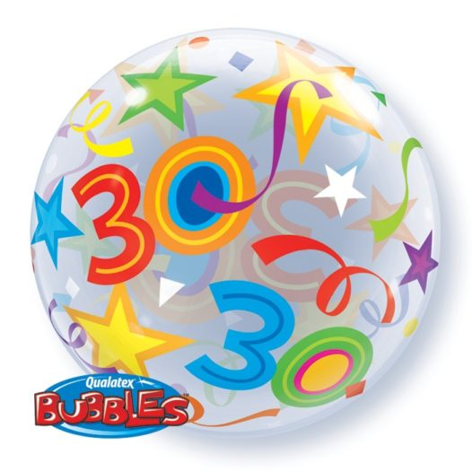Ballon Zahl 30 Rückseite