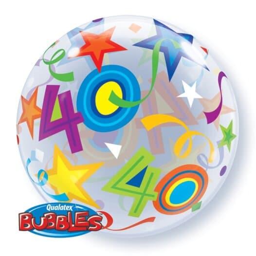 Ballon Zahl 40 Rückseite