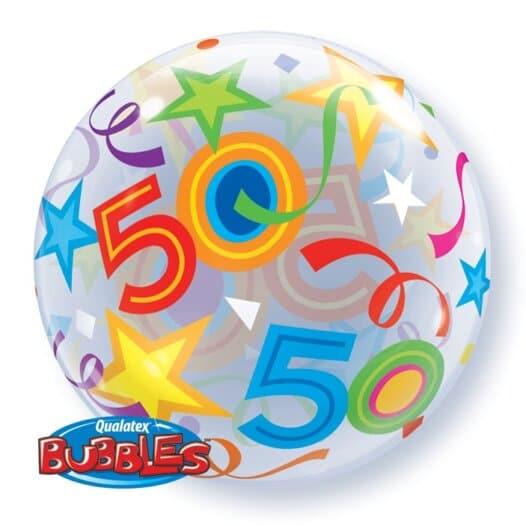 Ballon Zahl 50 Rückseite