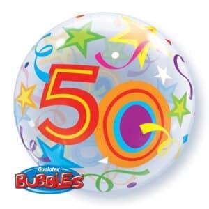 Ballon Zahl 50 Kunststoffballon Bubble