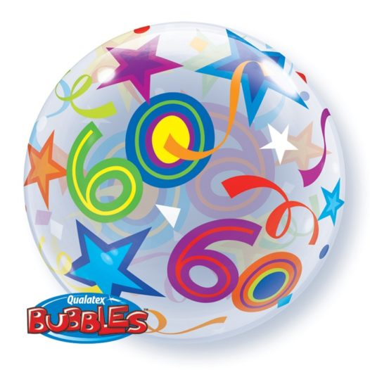 Ballon Zahl 60 Rückseite