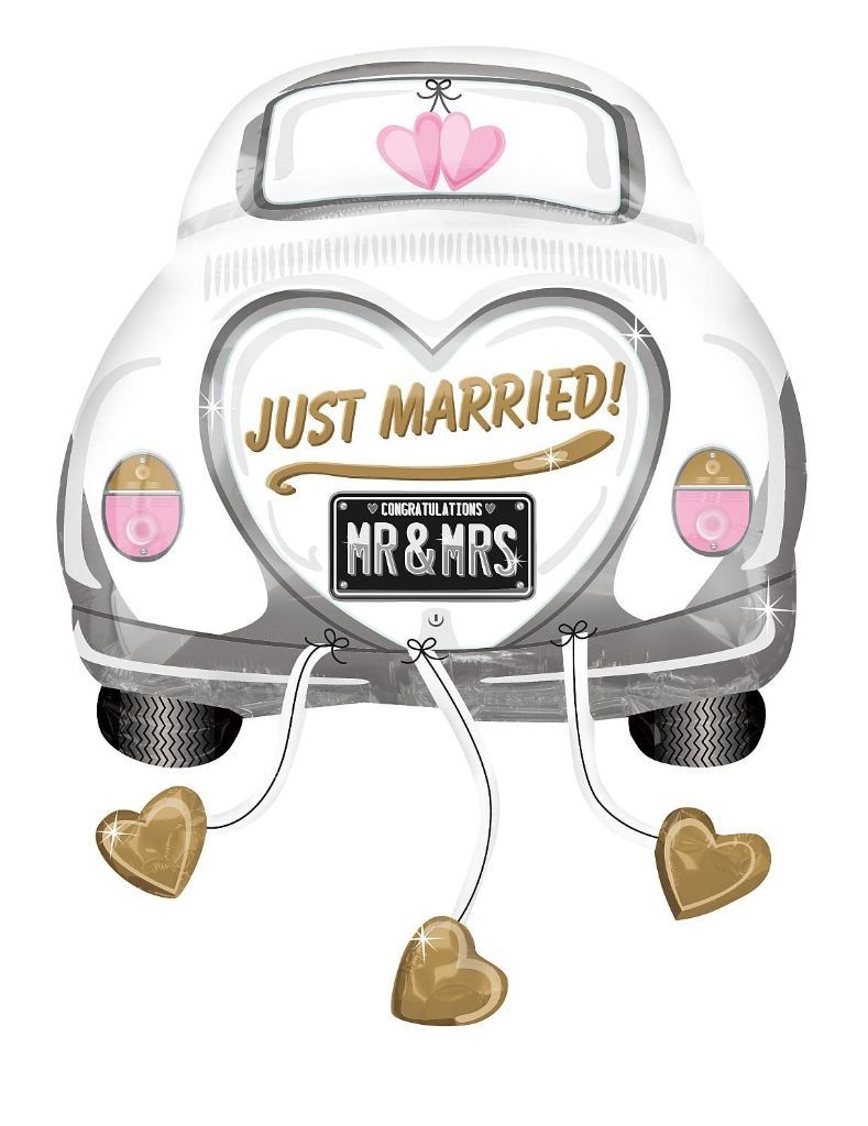folienballon just married auto 79 cm