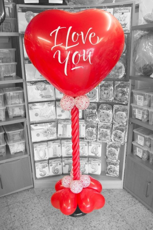 Herz-Ballon-Säule Deko