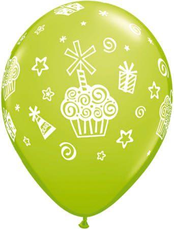 Luftballon Cupcakes hellgrün